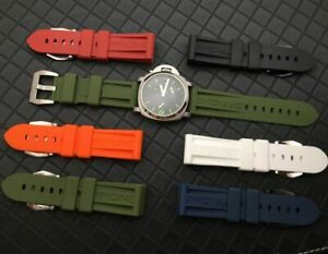 22 24 26 Silicone Rubber Watchband For Panerai PAM Strap HIGH QUALITY!