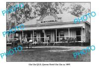 OLD LARGE PHOTO GIN GIN QUEENSLAND McCARDLE QUEENS HOTEL c1895