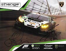 Change Racing Lamboghini Team Autographed Photo IMSA Racing 2017