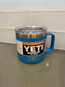YETI 14 oz TAHOE BLUE Stainless Coffee Cup Handled Mug