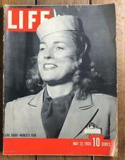 Life Magazine May 22 1939 - New York World's Fair GIRLS GUIDE ADS ARTICLES WW2