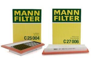 Pair Set of 2 Air Filter Set Mann OEM For Mercedes W211 S211 W164 W251 S212 C207