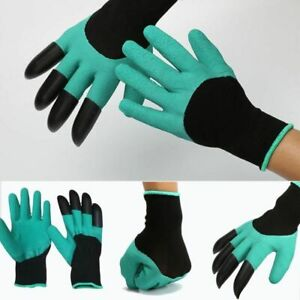 Garden Gloves with 4 ABS Plastic Claws for garden Digging Planting  1 pair Drop