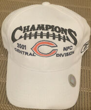 2001 Central NFC Division Champions Chicago Bears Reebok NFL Hat Cap Rare