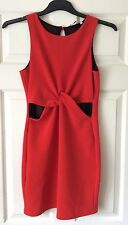 New Look - Red Cut-Out Waist and Twisted Detail Dress - Size 8 - BNWT