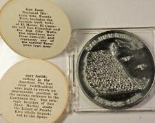 San Juan Puerto Rico National Historic Site Commemorative UNC Souvenir Medal COA