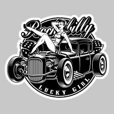 STICKER HOT ROD SEXY LUCKY GIRL AUTOCOLLANT PIN UP GARAGE CUSTOM AUTO PF053