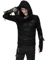 Devil Fashion Mens Hooded Top Black Gothic Dieselpunk Punk Apocalyptic Hoodie