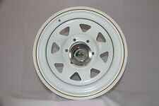 To Suit Mazda BT50/Ford Ranger After Market 17x8 White Sunraysia Style Steel Rim
