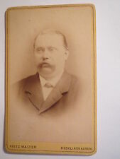 Recklinghausen - Mann im Anzug - Portrait / CDV