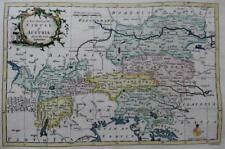 AUSTRIA VIENNA GENUINE COPPER ENGRAVED ANTIQUE MAP BY GEORGE ROLLOS  c1760