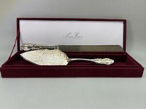 Silver Treasures Godinger Cake Knife & Server Silver-plated W/ Velvet Box Case