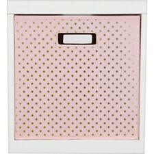 Pillowfort Polka Dot pink Storage Bin