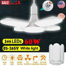 60W LED Garage Lights Adjustable Trilight Workshop Ceiling Light Bulb Chandelier