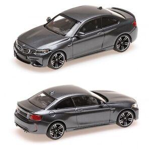 1/43 MINICHAMPS BMW M2 2016 Grey Metallic New IN Box Free Shipping Home