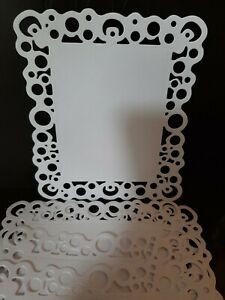 Die cut 6 White Filigree Frames for card toppers and pictures / 13 cm x 11 cm