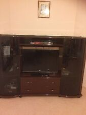 Large Brown Custom Made TV/Entertainment Unit In E.c
