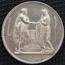 JETON DE MARIAGE 34,8 mm ATTRIBUE 1874 ARGENT