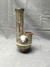 Antique Nickel Brass Sink Drain Pipe Trap Ball Old Vtg Femco Plumbing 252-17E