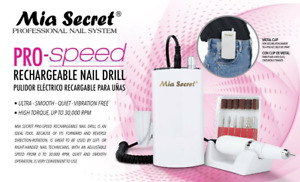 Mia Secret Pro Speed Rechargeable Nail File/Drill - White
