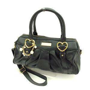 Samantha Vega Shoulder bag Black Gold Woman Authentic Used K279