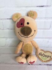 BioDours Organic Cotton Soft Plush Beige Teddy Bear Stuffed Toy With Heart 9in