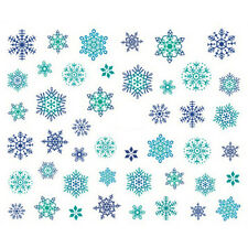 Cute Xmas White Snowflake Nail Art Stickers DIY Decals Tip
