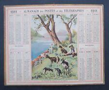 Calendrier 1911 Almanach Postes Chevrier Gandria Lac de Lugano Italie Montagne