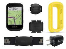 Garmin Edge 530 GPS Cycling Computer w Garmin Silicone Case and sensors