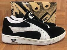 RARE🔥 VANS Temper Black Suede Vintage Skateboarding Sneakers Sz 11 Awesome LE