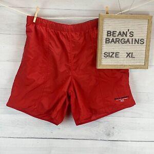 Polo Sport Ralph Lauren Mens Mesh Lined Swim Trunks Short Solid Red Size XL