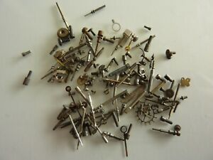 Small box Of Watchmakers MXT Watch parts Screws Stems etc See Picture refWP41