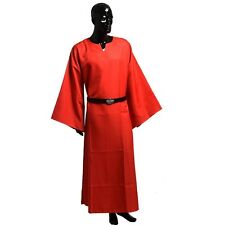 New Red Robe Gown With Belt Medieval Renaissance Larp Wicca Pagan Ritual Cosplay