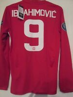Manchester United Ibrahimovic 9 Europa League Football Shirt LS SMall  /42047