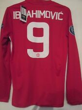 Manchester United Ibrahimovic 9 Europa League Football Shirt LS SMall  /42047