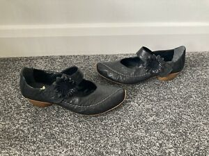 Reiker Antistress Mary Jane casual shoes Size UK 7 (40) Black - Ex Condition