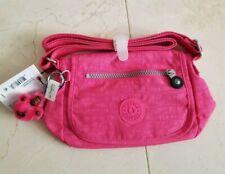 Kipling Sabian Crossbody Messenger Shoulder Nylon Bag Hydrangea Pink Monkey NWT