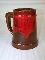 RED BROWN CERAMIC MUG CUP COFFEE TEA