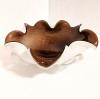 """Vtg. Barbini Murano Italian Art Glass bullicante bowl cased controlled bubble 9"""""""