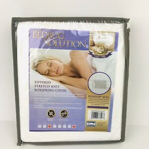 """The Bedbug Solution Zippered Boxspring Cover Full 9"""" Deep Bugstop Seal"""