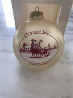 John Furches Signed Christmas Ornament-Christmas 1992-Sleigh-916/2500
