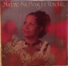 MARLENE SAI with STEVE BRAVIN Song For Honolulu scarce 1977 LP in shrink
