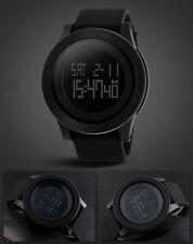 Black Fashion Rubber Band Army Military Digital Quartz Sports Mens Wrist Watch