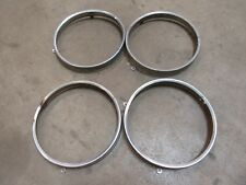 1959 Buick Electra front 2 tab headlight bulb retainer trim ring set molding