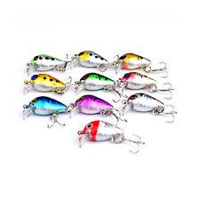 10PCS Mix color Fishing Floating Minnow Crankbaits lure hook baits 2.6cm/1.6g