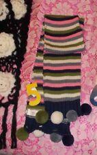 Winter Scarf for Men & Women Crochet Flannel / Fleece Scarves w/ Fringes Plaid