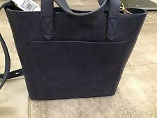 NWT Madewell $128 Small Leather Transport Tote Crossbody Handbag Blue Deep Navy