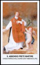 """santino-holy card""""S.ABBONDIO PRETE M.-SERRA SANT'ABBONDIO"""