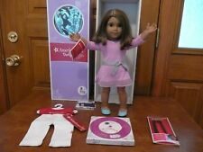 American Girl Doll Short Brown Hair Highlights Brown Eyes Medium Skin Nib Tee +