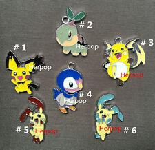 20pcs Pikachu Pokemon Metal Charms DIY Jewelry Making Pendants Earring gifts P09
